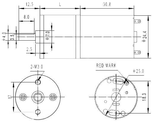 dimensions moteur