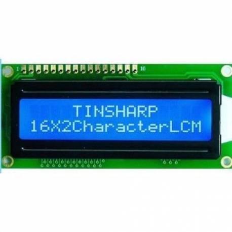 Afficheur LCD 16x2 caractères - Blanc sur Bleu 5V