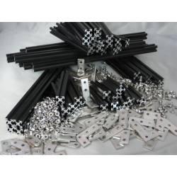 Kit Mécanique MakerBeam noir anodisé