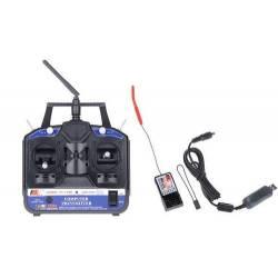 Radiocommande et Recepteur 2.4G FS-CT6B 6CH