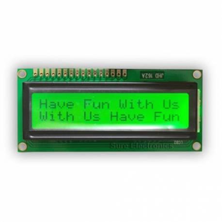 Afficheur LCD 16x2 caractères - noir sur jaune 5V