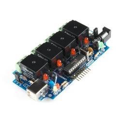 contrôleur usb de relais + 6 E/S