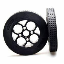 Paire de roues caoutchouc 136×24mm