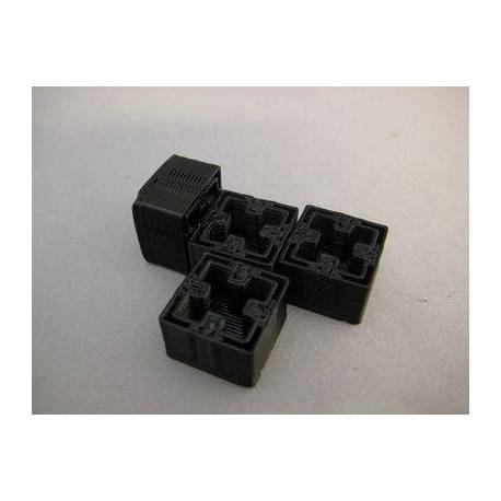 4x caches imprimés 3D noir pour MakerBeam