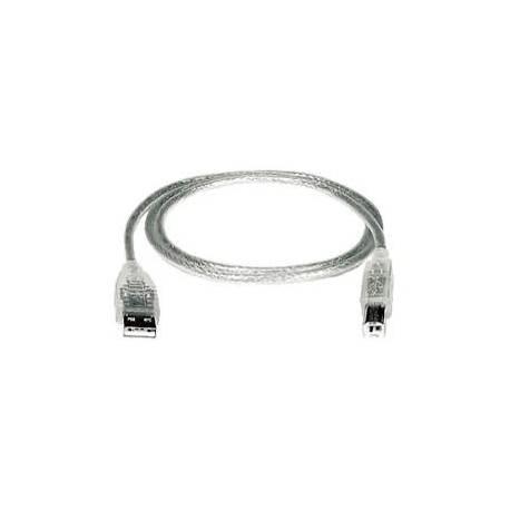 Câble USB A-B transparent