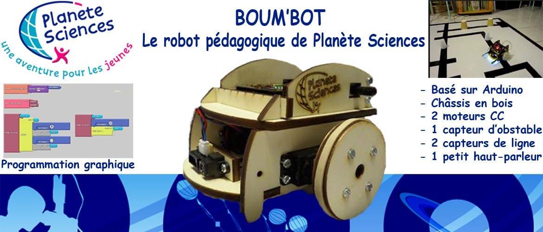 Boum'Bot le robot pédagogique de Planète Sciences